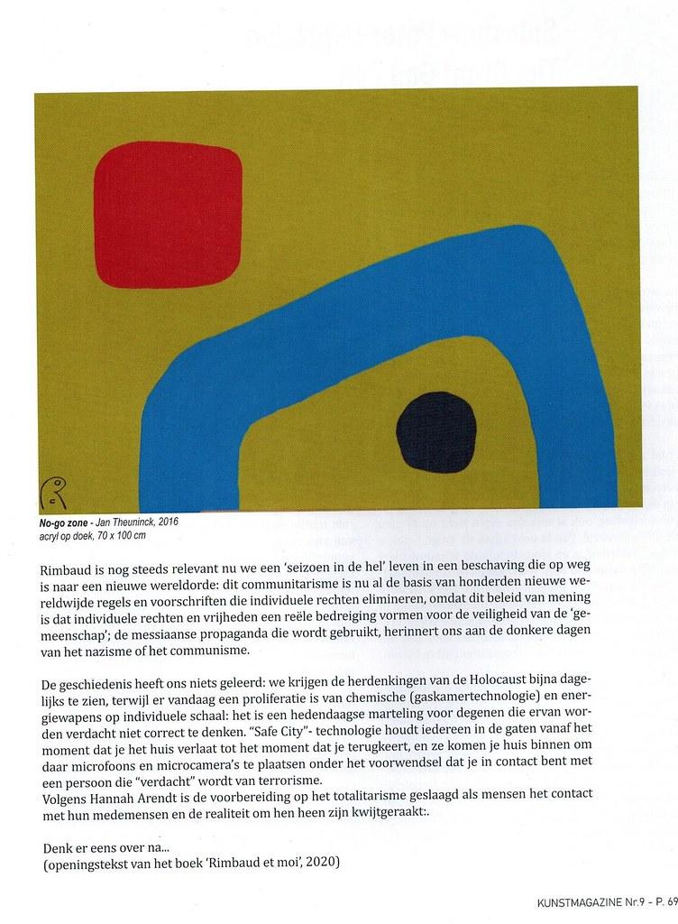 Kunstmagazine nr 9, 2021 - Jan Theuninck pag.69