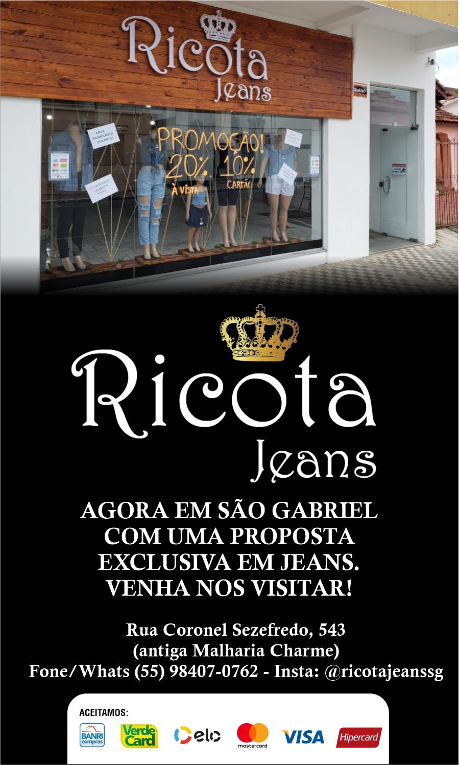 Ricota Jeans São Gabriel - venha nos visitar