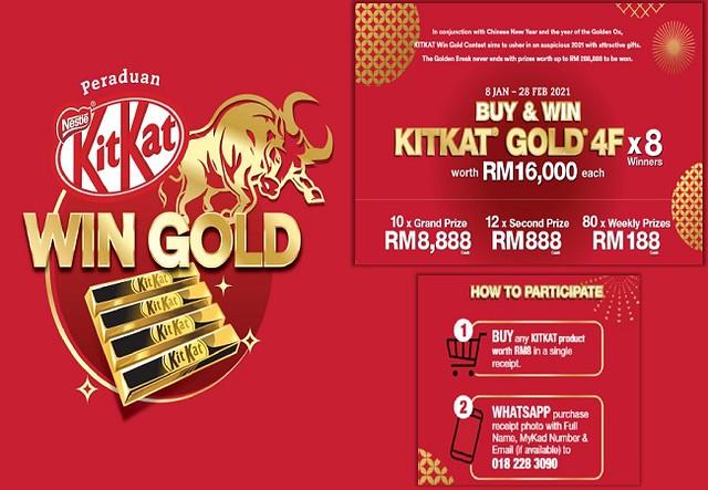 Nak Menang Wang Tunai, Tengok Budiey Unboxing Kotak Ajaib KITKAT GOLD
