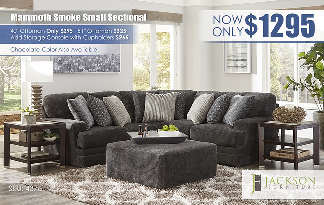Mammoth Smoke Small Sectional by Jackson Furniture_4376_Update