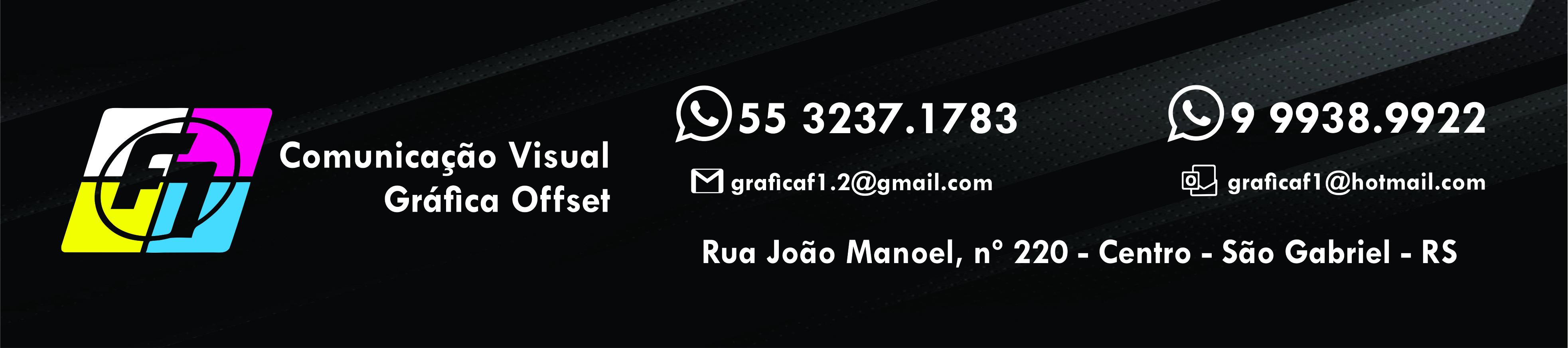 F1 Comunicação Visual e Gráfica Offset - sua ideia em nossas mãos