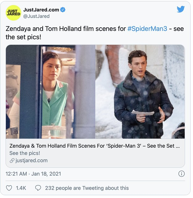 Set Penggambaran Filem Spider-Man 3 Menunjukkan Suasana Di Hari Natal
