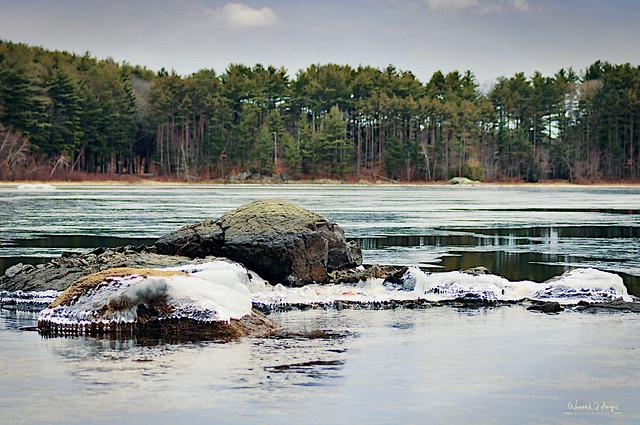 Middlesex Fells - Frozen Erratics. HDR