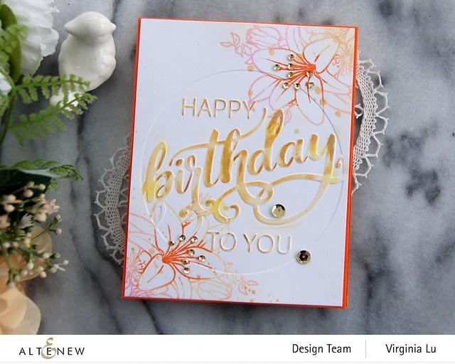 Altenew-Modern Birthday Faux Letterpress Debossing Folder-Our Friendship Blooms Stamp Set-003