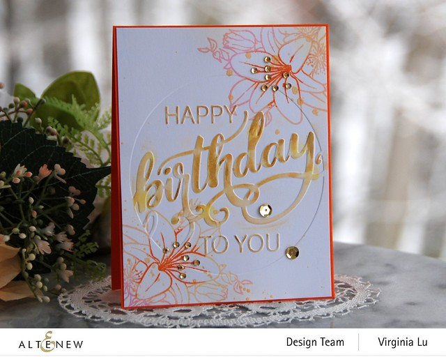 Altenew-Modern Birthday Faux Letterpress Debossing Folder-Our Friendship Blooms Stamp Set