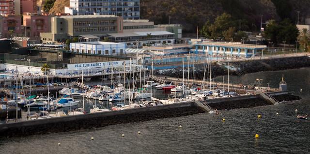 Boats and Swimming in Santa Cruz de Tenerife Harbor