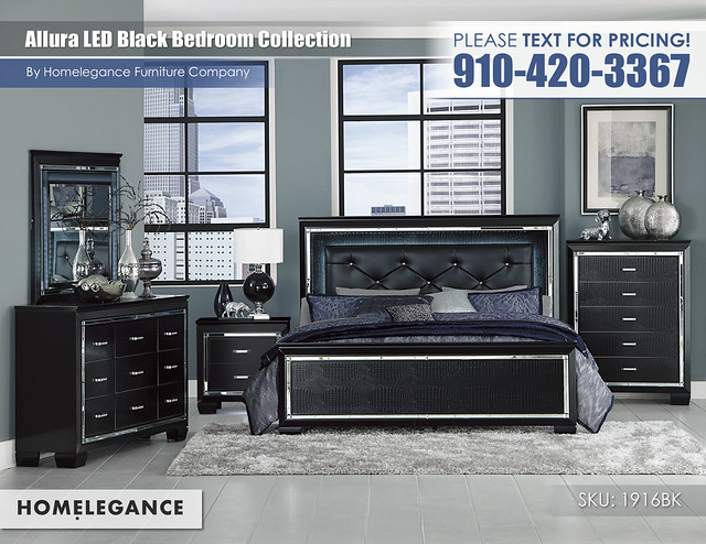 Allura Black Bedroom_Homelegance_1916BK1