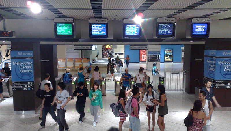 Melbourne Central Station entrance (January 2011)