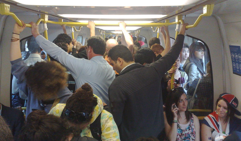Crowded train (January 2011)