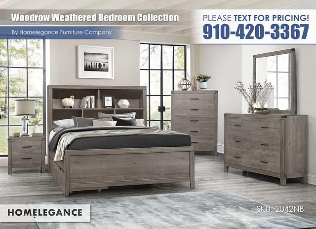Woodrow Weathered Bedroom_Homelegance_2042NB1