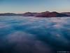 Sorvolando il mare di nebbia bassa sulla Franciacorta