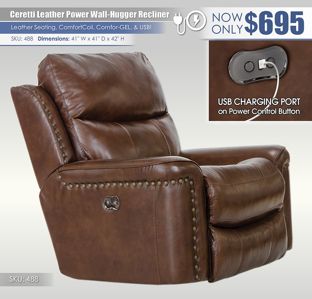 Ceretti Power Leather Recliner_488