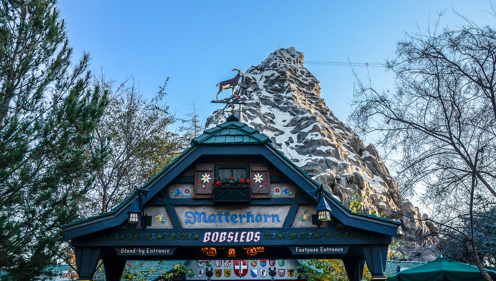 Matterhorn sign and mountain DL