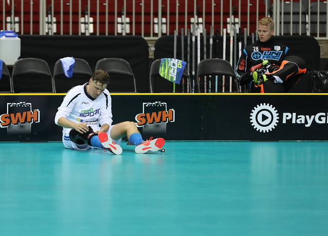 Finland vs Germany - Floorball World Championships 2016 - WFC2016 - 03/12/2016 - Riga Arena, Riga, Latvia - Game Day 1 - Pool A Preliminary Round - ©Ville Vuorinen - NO UNPAID USE ALLOWED, FOR THE USE OF FINNISH FLOORBALL FEDERATION ONLY!!  NOR