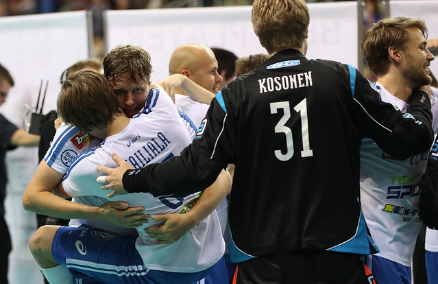 Finland vs Swedem - Floorball World Championships 2016 - WFC2016 - 11/12/2016 - Riga Arena, Riga, Latvia - Game Day  9 -  Final WFC 2016 - ©Ville Vuorinen - NO UNPAID USE ALLOWED, FOR THE USE OF FINNISH FLOORBALL FEDERATION ONLY!!  NORMAL RATES