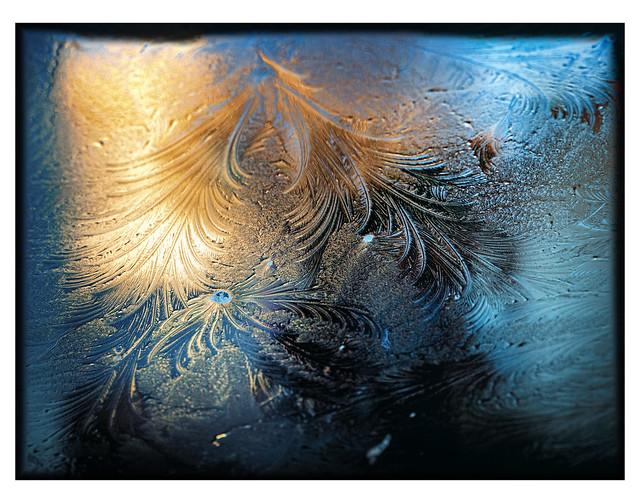 Quand le givre dessine sur mon pare-brise! / When the frost draws on my car windshield!