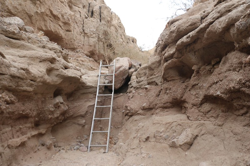 Yet another dented but serviceable ladder in Ladder Canyon