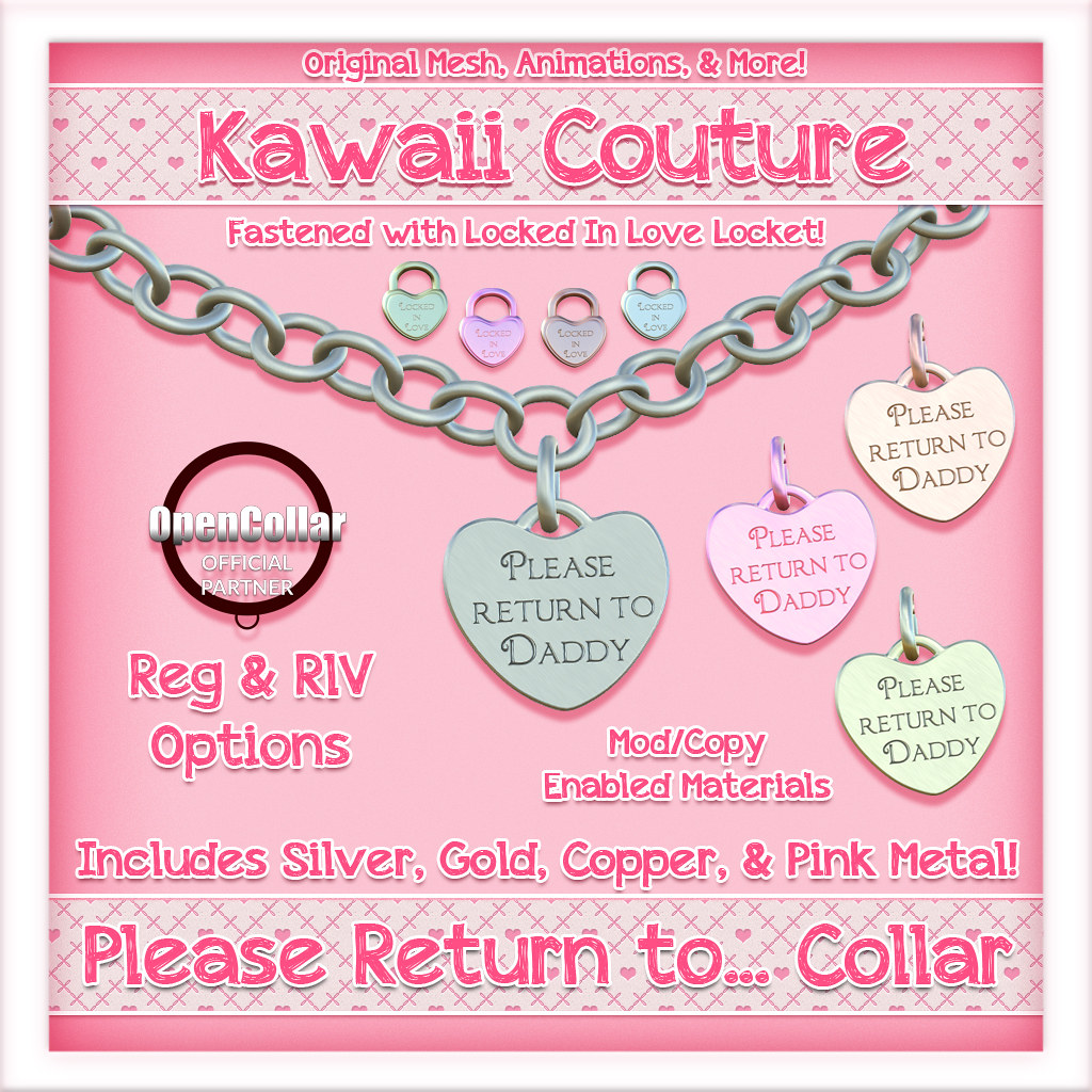 Kawaii Couture – Return to Collars Ad – Daddy