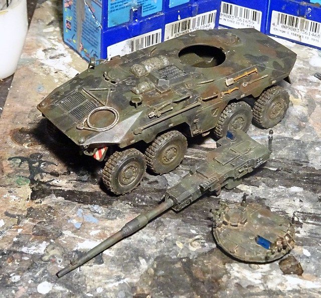 """1:72 Thyssen-Henschel 8×8 Waffenträger VTS3 """"Diana"""", 1st prototype during trials; Bundeswehr Training Area Munster (West Germany), 1984 (What-if/modified Revell kit) - WiP"""