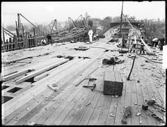 Braeside' and 'Burnside' under construction, Kidman & Mayoh, shipbuilders, Kissing Point Park, Ryde, Sydney, c. 1920, Arthur Ernest Foster