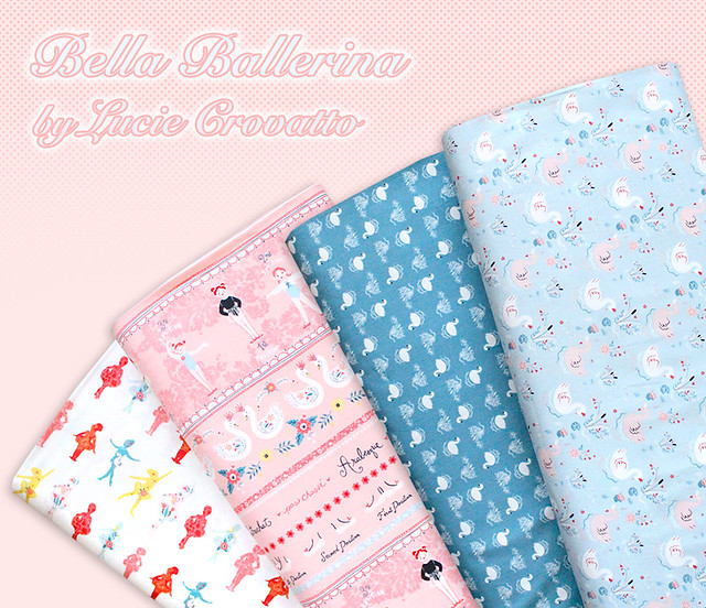 Studio E Fabrics Bella Ballerina Collection by Lucie Crovatto