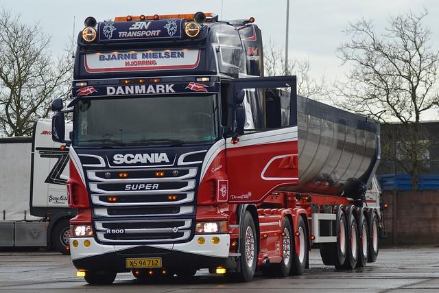 Scania R500 V8 - Bjarne Nielsen Transport Hjørring - BN Transport - BN-4 - XS 94 712