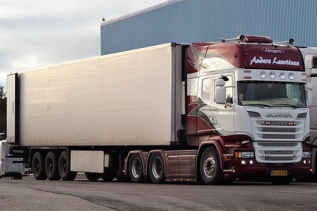 Scania R 580 V8 - Anders Lauritzen Hjørring - AL Logistik - Ljunggren - DK  AV 26 948 - Ex GN Transport Langeskov
