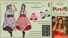 *PSS* Strawberry Dream Dress & Head Ribbon