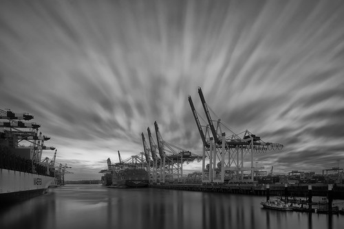 nopeople sky longexposure habour view blackandwhite hamburg clouds perspective sigma1224mmf4dghsmart ship outside tourism bw cloudscape