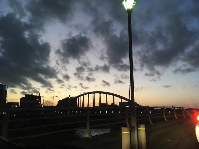 黄昏の御影大橋