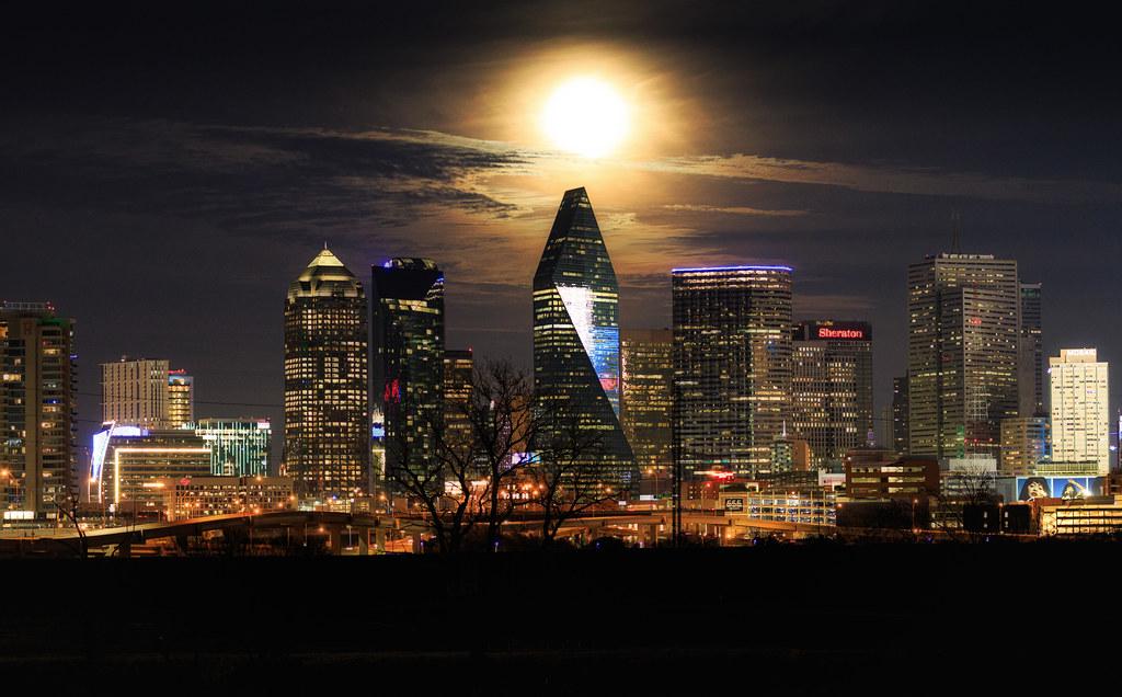 Wolf Moon over Dallas