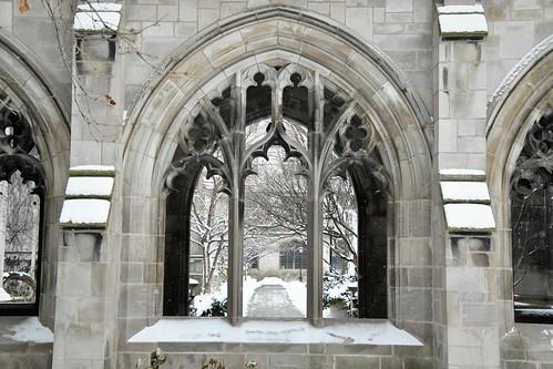 Snowy arches