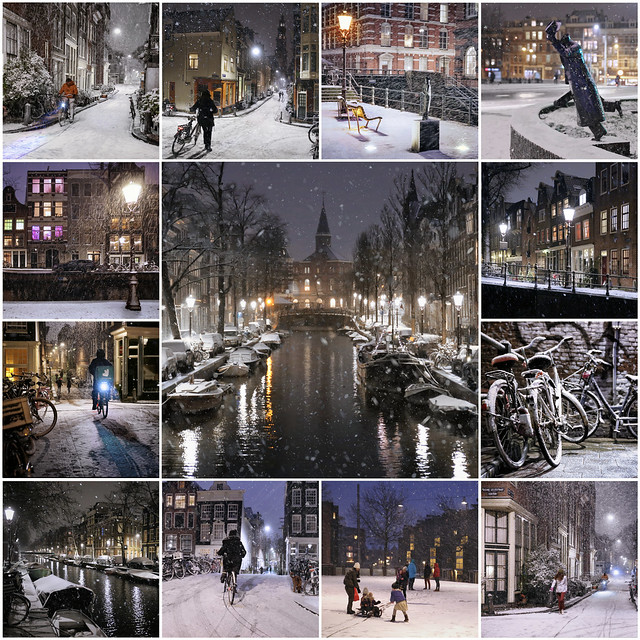 Snowflakes fall in heart of Amsterdam in 2021