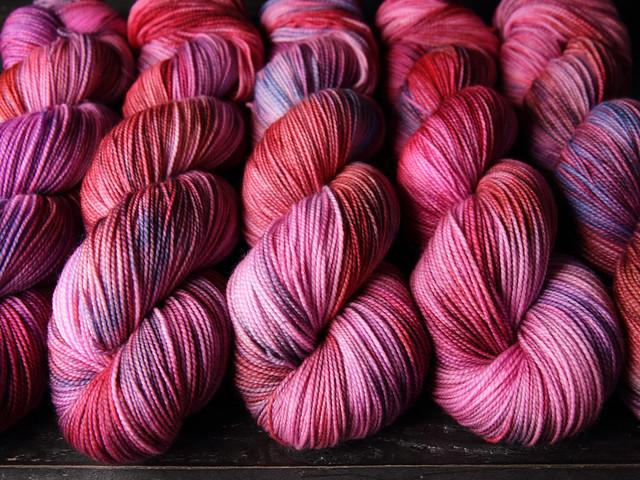Favourite Sock – hand-dyed superwash merino wool yarn 4 ply/fingering 100g – 'Heartbeats'