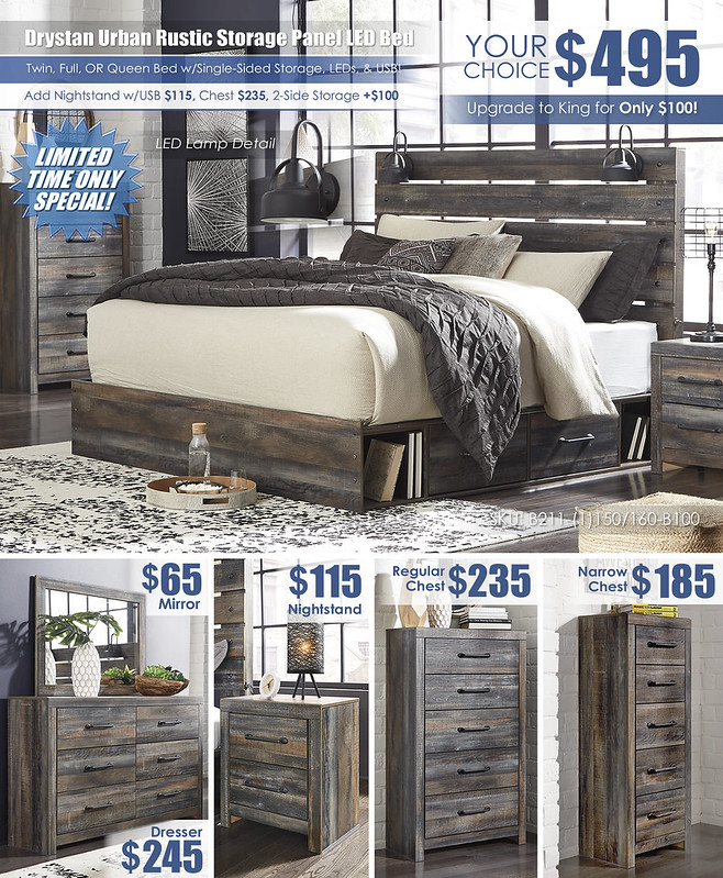 Drystan Youth Twin or Full Storage Bedroom Layout Ad_B211_Update