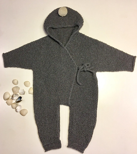 Shell by Lone Kjeldsen is knit in a squishy garter stitch which is very stretchy and will grow a little with baby!