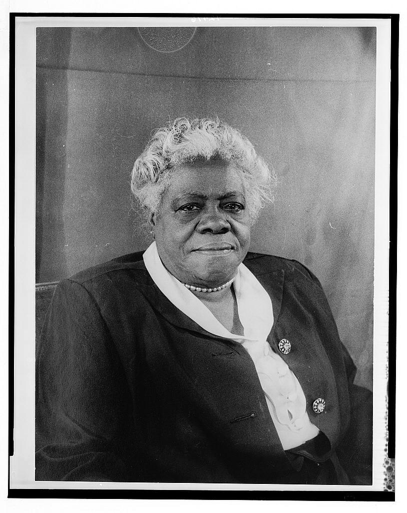 [Portrait of Mary McLeod Bethune] (LOC)