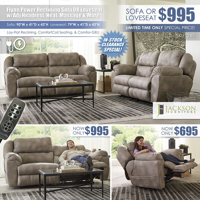 Flynn Power Reclining Sofa OR Loveseat_245_Layout_wRemoteInStock