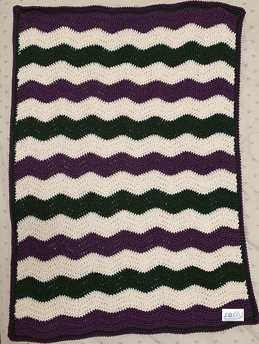 Ripple Mighty Stitch Baby Blanket | by Zavvy Creations