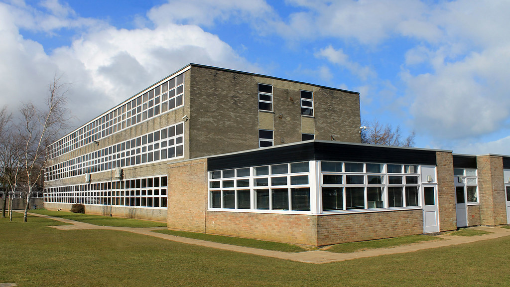 The exterior of a school building.