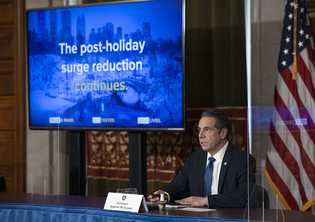 Governor Cuomo Announces New York City Indoor Dining Can Reopen at 25 Percent Capacity on Valentine's Day