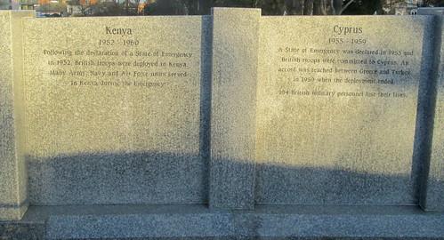 Kenya and Cyprus Memorial Wall, Sunderland