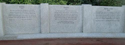 Bosnia, Kosovo, Sierra Leone Memorial Wall, Sunderland