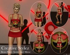 Creative Stylez - Bento Poses - Smilie -