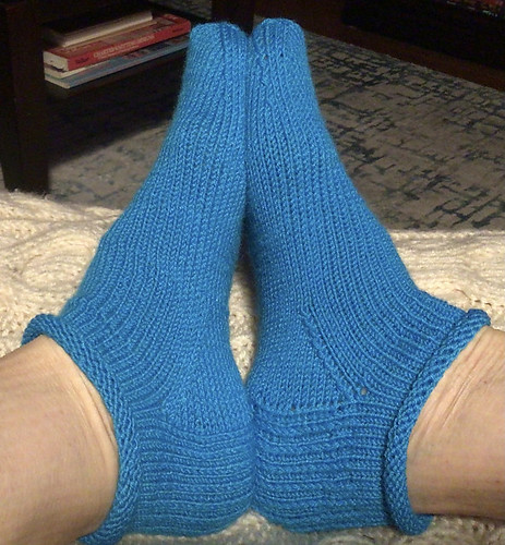 Natalie (abrnat) finished a pair of Rose City Rollers by Mara Catherine Bryner to wear to bed!