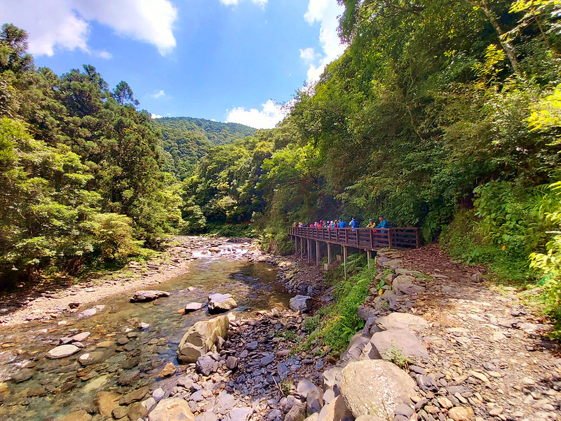 Tonghou Traversing in Wulai, Taiwan