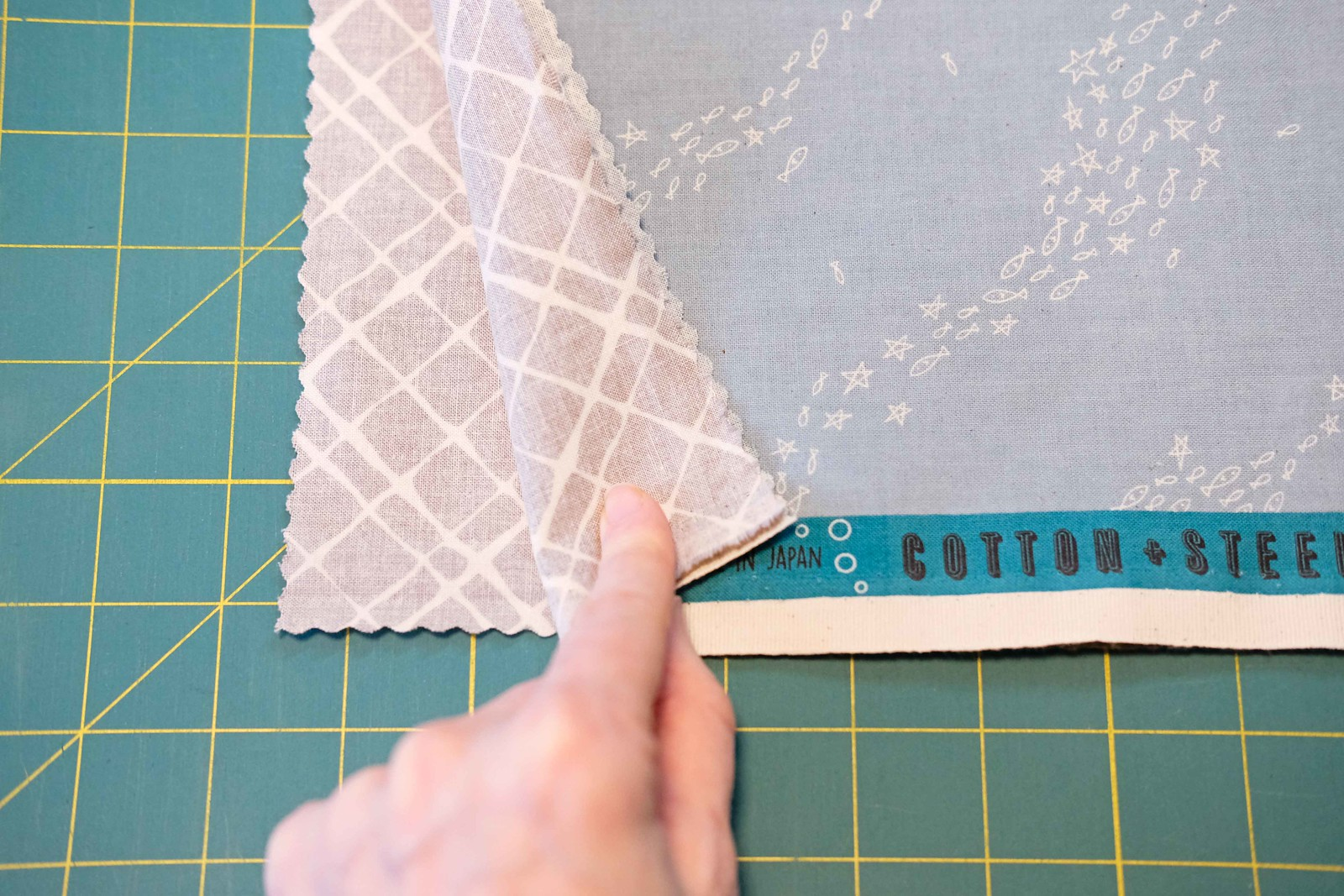 The Violet QAL - Cutting Your Fabric