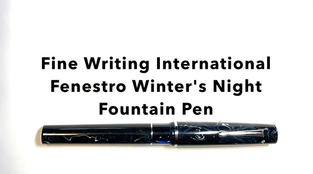 精品写作国际Fenestro冬季's Night Fountain Pen