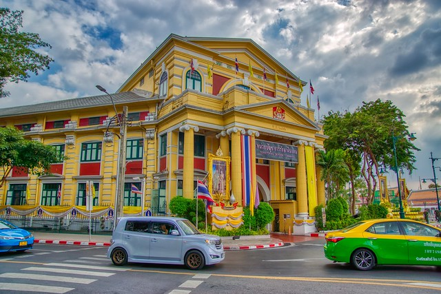 Building of the Territorial Defense Command near Wat Pho in Bangkok, Thailand