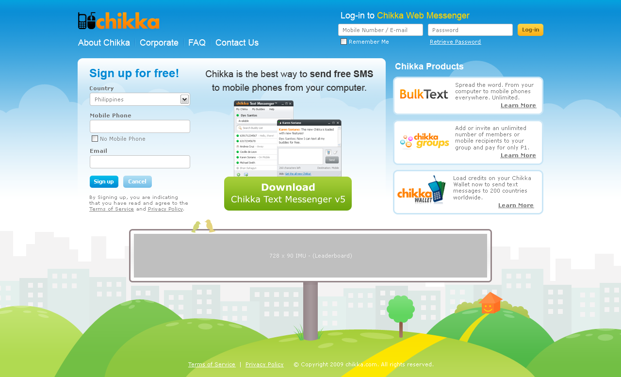 Chikka - Website